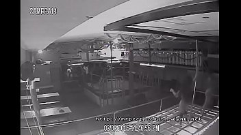 cctv catches a duo of strippers working the.