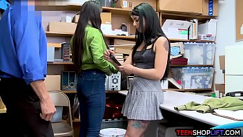 latina stepsisters get caught stealing and.