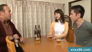 japanese wifey fellates on a junior.