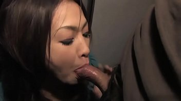 japanese cutie is not bashful about throating pecker.