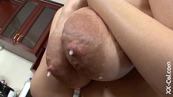 chick with dark areolas lactating