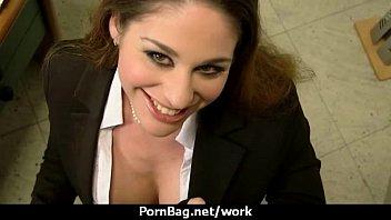 sex-positive assistant office surprise five