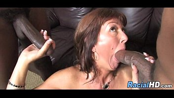 guy observes his mother blow off 2 dark-hued fellows