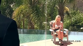 blackmailed blondie wifey buttfuck pounded in.