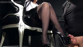 nikita spiky high high-heeled slippers jizz.
