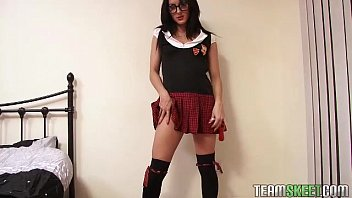 solointerviews smalltits dark-haired chloe lovette unclothe college girl.