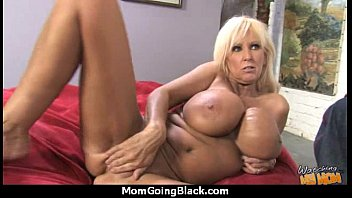 immense knockers milky cougar plumbs a lucky dark-hued.