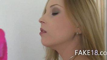 mischievous blondie deepthroat faux agent jizm-shotgun