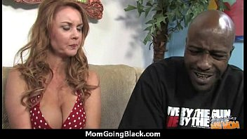 enormous-boobed mommy in fledgling interracial flick.