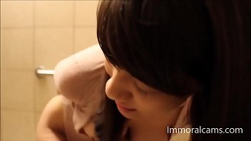 supah-steamy chinese jerks in public restroom and unload hd