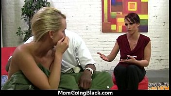 gorgeous mommy gets a milky pearly facial cumshot.