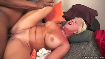 interracial anal foray drill with grannie.