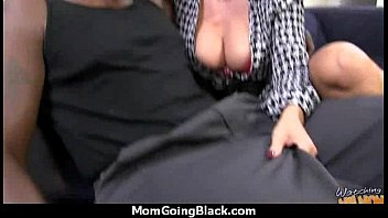 gorgeous mummy gets a milky pearly facial cumshot.