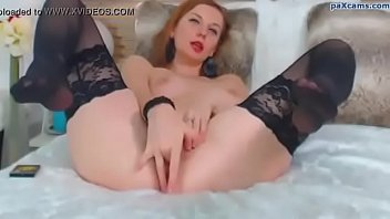 magnificent red-haired jerking on webcam