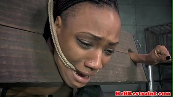 roped black slave in pillory gets.