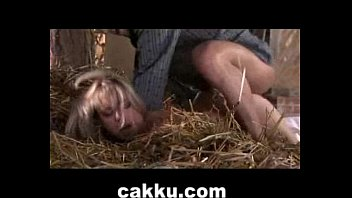 silver-blonde marvelous chick doing xxx hook-up with farmer.