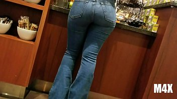 maxprod bubble ass dark-haired in cock-wringing jeans at.