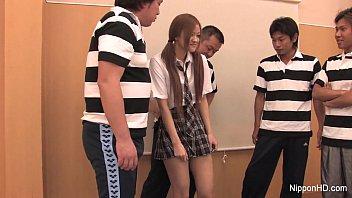 japanese student bangs her classmates