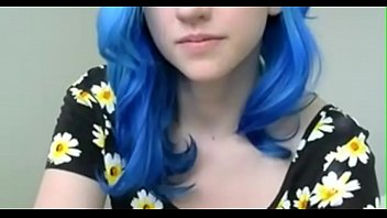 crazyamateurgirlscom - blue haired doll in flowers plays.