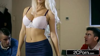 filthy educator blanche bradburry gets pummeled by two boys