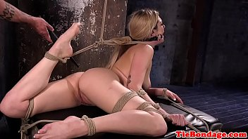 restrict bondage liking bombshell gets disciplined