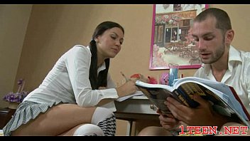 luxurious nubile deep throating and getting
