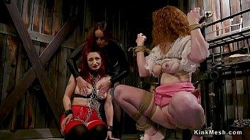lesbian domination 3 way strap on.