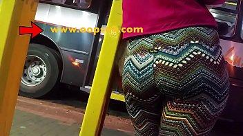 grope her massive bootie inwards bus