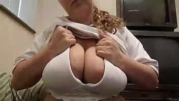 curvaceous silver-blonde wanking giant mounds