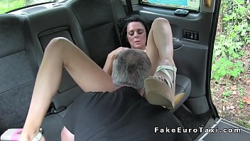 inborn buxom dark haired humps in faux cab.