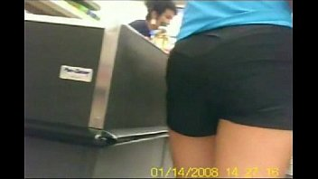 encoxada in shop massaging arse real.