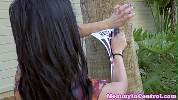 latina cougar helps nubile get doggystyled