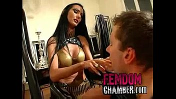 domme teaches her masculine marionette strapon.