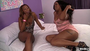 wankz - teenage black lezzy stunner has her.