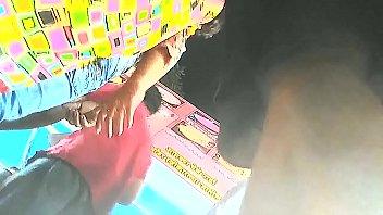 indian upskirt chocolate-colored panty