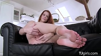 ginger-haired sonja frigs her humid coochie