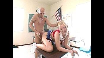 towheaded cheerleader slammed rock-hard by her.