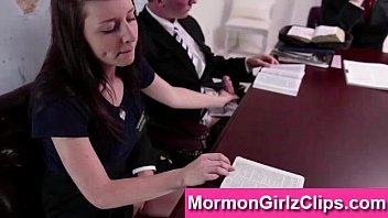 youthful mormon duo providing hj in.