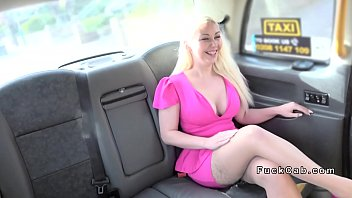 good-sized tits blondie gives feet jack in faux cab