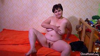 omahotel mature plus-size grannies striptease compilation