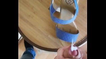 jizz on my gf high-heeled footwear.