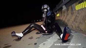 dressed in ebony spandex in public amp_ gas.