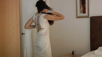 indian school doll jasmine mathur in milky indian sari