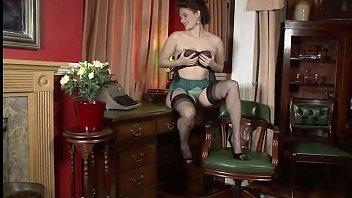 cougar in antique underwear