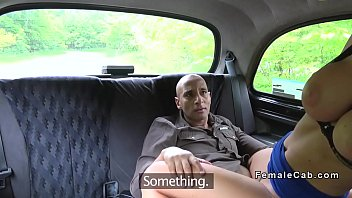 phat-titted cabbie rails gigantic ebony weenie