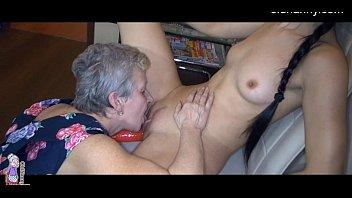 kitchen hump grannie and youthful