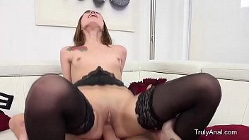 bony dark-hued-haired gets assfucked