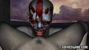 spectacular 3 dimensional zombie stunner getting slurped and.