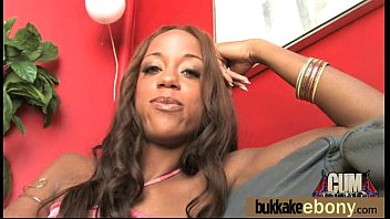 mischievous ebony wifey group pulverized by milky pals ten
