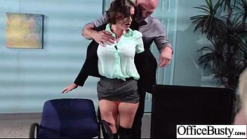 bang-out in office with meaty-titted insatiable nice dame.